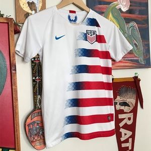YOUTH LARGE TEAM USA WORLD CUP SOCCER JERSEY SZ YL